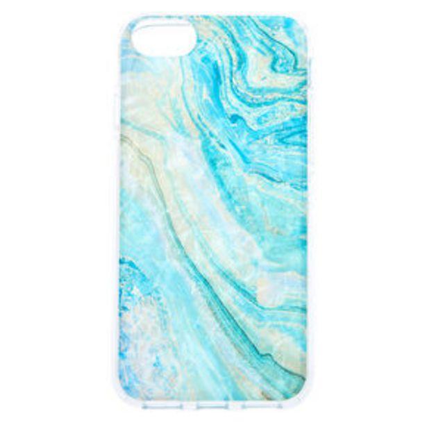 Aanbieding van Turquoise Marble Shell Phone Case - Fits iPhone 6/7/8/SE voor 2,25€