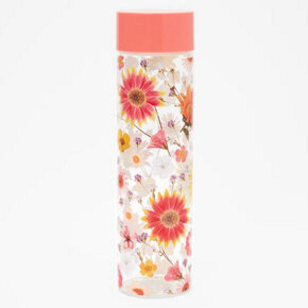 Aanbieding van Pressed Flower Water Bottle - Coral voor 10,8€