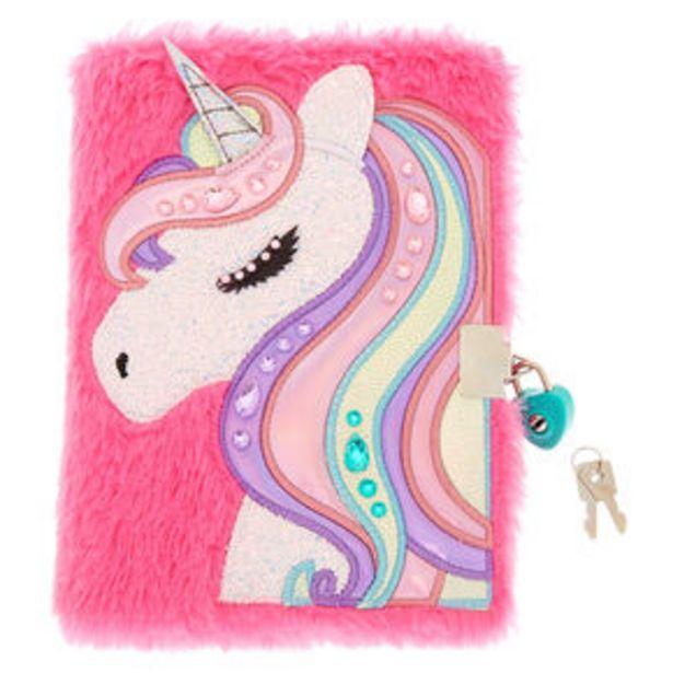 Aanbieding van Miss Glitter the Unicorn Soft Lock Notebook - Pink voor 7,2€