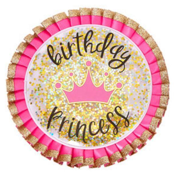 Aanbieding van Birthday Princess Button - Pink voor 2,7€