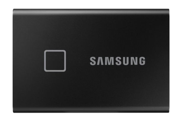 Aanbieding van Samsung PORTABLE SSD T7 TOUCH 500GB (BLACK) voor 115€