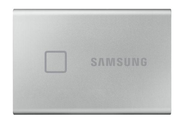 Aanbieding van Samsung PORTABLE SSD T7 TOUCH 500GB (SILVER) voor 115€