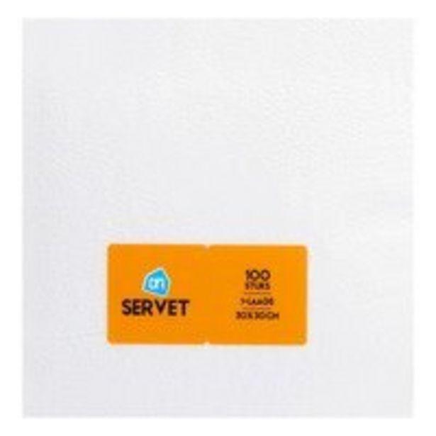 Aanbieding van AH Servet wit 1 laags voor 0,69€
