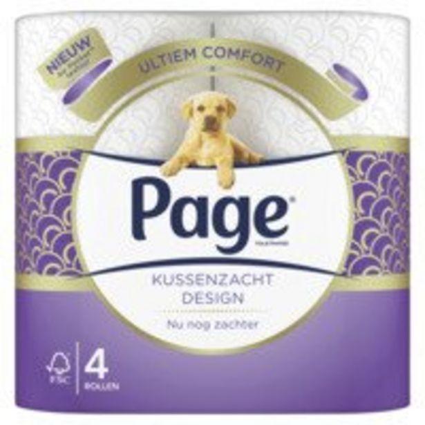Aanbieding van Page Toiletpapier kussenzacht design voor 2,29€