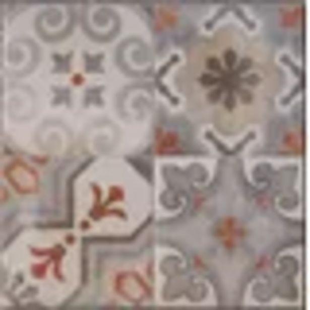Aanbieding van Tegel Cementina Rosso Mix 34x34cm 1,62m² voor 11,24€