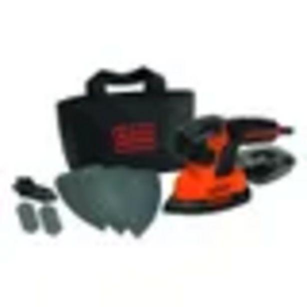 Aanbieding van Black & Decker mouse schuurmachine 120w 3 grijpzones met accessoires in softbag voor 51,99€