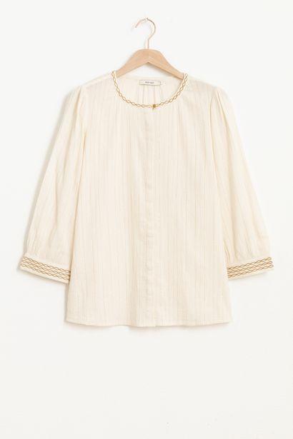 Aanbieding van Ecru blouse met lurex voor 41,99€