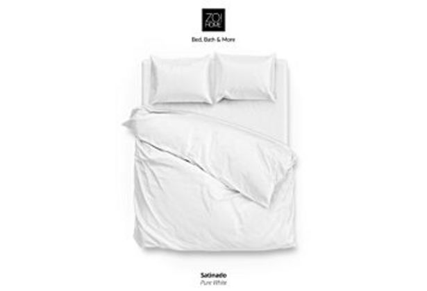 Aanbieding van Zo!Home Satinado Dekbedovertrek White voor 24,98€